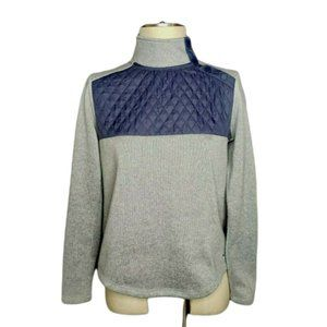 Vineyard Vines Shep Shirt Size XS Gray Quilted Navy Blue Snap Shoulder Closure